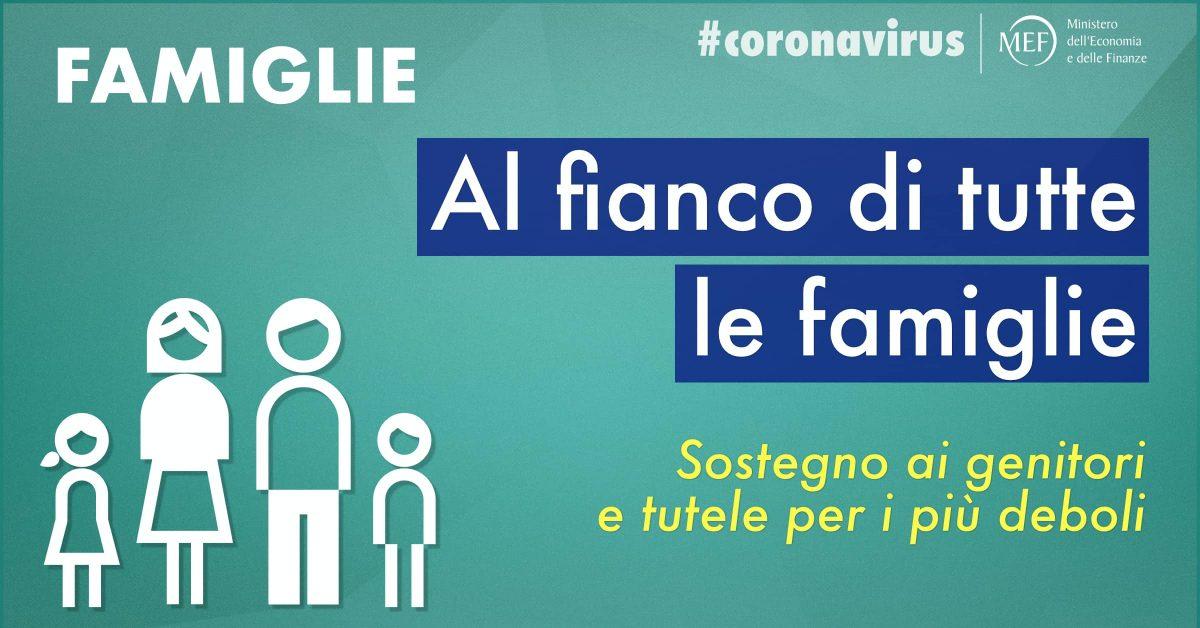 Le misure del Governo a sostegno delle famiglie italiane
